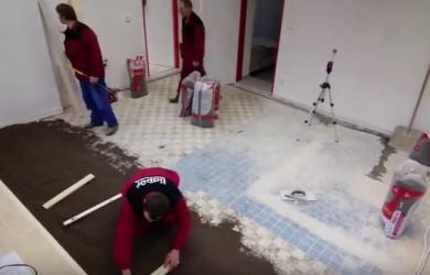 Pokládání podlahy